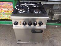 LPG GAS COOKER AND UNDER ELECTRIC OVEN OUT DOOR CATERING CARAVAN TRAILER KITCHEN RESTAURANT BAR
