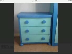 Ikea kuds blue drawers