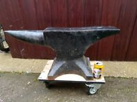 BLACKSMITHS ,FORGE, INDUSTRIAL, VINTAGE MARKED ANVIL PETER WRIGHT 136kg