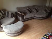 *reduced for quick sale* Scs corner sofa, cuddle chair and footstool