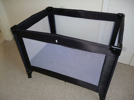Travel Cot Navy blue. Excellent condition with bag.