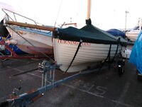 20 ft traditional open sailing boat