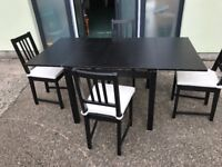 Ikea dining table & four chairs