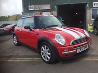 Mini One 2001 51 plate in red with white stripes