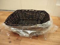House clearance! New dark brown wicker/ rattan/ hamper/ storage basket.