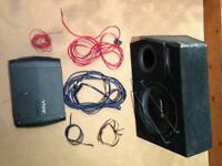 1200W Alpine Subwoofer and 400W Slick Amp + all wiring
