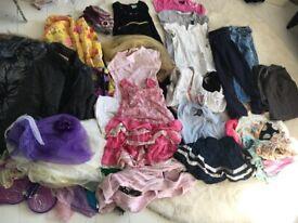GIRLS BUNDLE OF CLOTHES FULL WARDROBE 4 - 5 YEARS 35 piece BUNDLE