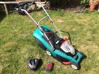 Bosch Rotak 37 LI 36v Cordless Battery Lawnmower with battery and charger