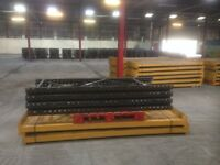 5 bay run of link pallet racking( more available. storage , industrial shelving )