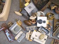 Job Lot Modern, Vintage/Antique Door Locks & Cylinders/keys, Latches, Knobs, Handles etc Incl. Yale