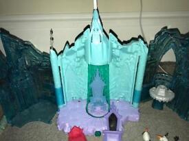 Frozen castle playset, dolls, busy book