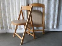 PAIR OF VINTAGE STOE YUGOSLAVIA BEECH FOLDING DINING CHAIRS