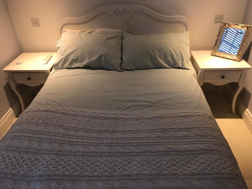 White Ornate Bed Frame