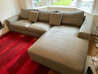 Dwell Leather Corner Sofa