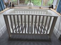 Mamas and Papas Alpine Cot Bed in ivory