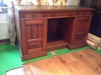 Edwardian kneehole desk. Needs a bit of TLC. Need the space urgently so cheap to go.