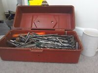 Large selection of mixed drill bits