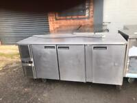 Commercial bench counter pizza fridge for shop pizza meat takeaway bfbcdd