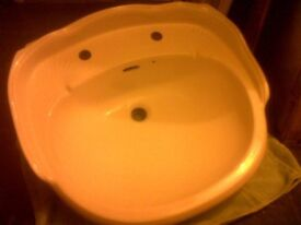 Large Victorian Style Sink Basin WHITE