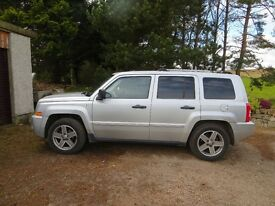 Jeep Patriot with fitted tow pack. Regularly serviced