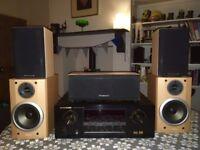 Marantz SR4200 Surround Sound AV Receiver and Wharfedale/Sony Speakers