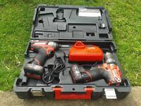 milwakee 12v drill and impact combi set + band saw SOLD SOLD SOLD