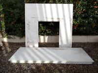 Beautiful Marble Fire back plate Surround & Hearth - Delivery Available