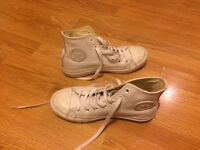 Converse - White leather high tops