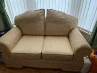 2 seater settee hardly used