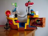 Tess Toys - Fisher Price World of Little People Pirate Ship in excellent condition