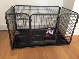 Crufts Puppy Pen. Freedom standard 700mm high dog crate cage