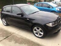 BMW 118d 2009 black colour low mileage (90000) HPI CLEAR, FULL SERVICE HISTORY