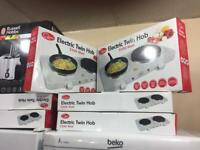 BRAND NEW-Electric Twin Hobs 2500watts boxed warranty included-Hoovers on sale kitchen & house