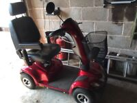 Invacare Orion 4 wheeled mobility scooter in as new condition