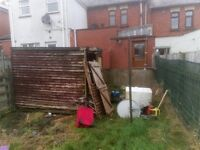 Rubbish removal, power washing, grass cutting, hedge strimming, dump runs, erecting fences,