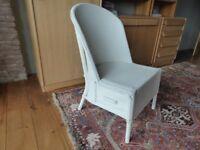 Lloyd loom chair with drawer