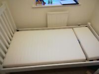 Single bed + Mattress. Special length 180cm