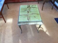 VINTAGE MARBLE EFFECT SIDE TABLE FOR SALE IN WESTON - SUPER -MARE