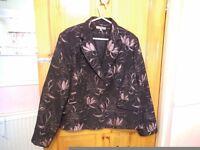 Designer evening or mother of the bride pink/black Gharani Strok Jacket from Debenhams . Size 18