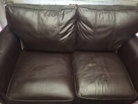 Real leather sofa