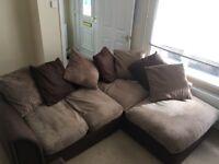 2 seater and corner sofa