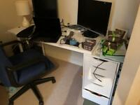IKEA desk drawers and desk