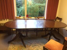 Extending dining table and chairs -potential shabby chic project