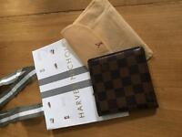 Authentic Louis Vuitton brown check wallet designer