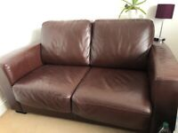 Leather Sofa Bed from Ikea