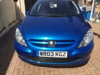REDUCED SEE NOTES PEUGEOT 307 1.9 HDI DIESEL 5 SPEED MANUAL MOT 15/8/2017 ONLY 2 OWNERS HPI CLEAR