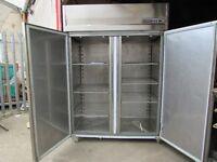Double Door Stainless Steel fridge