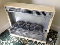 Electric Fireplace with coals