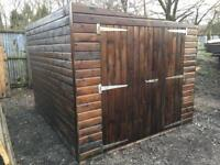 10ft x 8ft Pent Shed, Heavy Duty, Delivered & installed