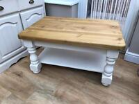 Chunky solid pine coffee table